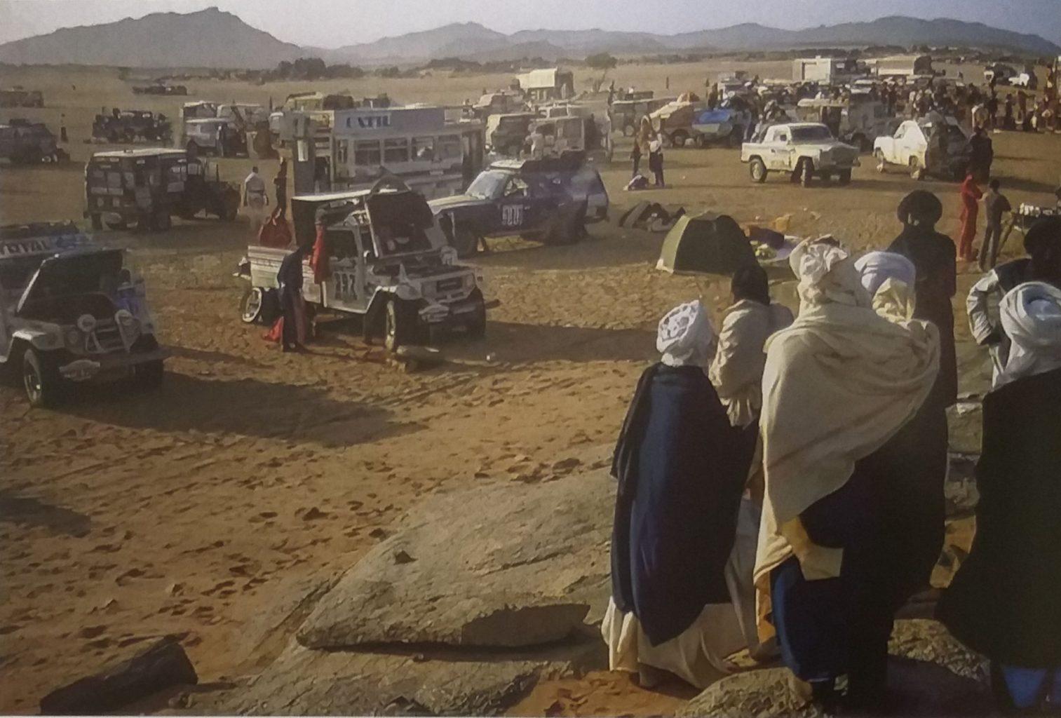 Бивуак (стоянка) на ралли «Париж-Дакар» в Африке (1984 год)